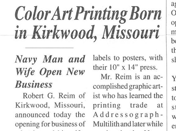 Color Art Printing Born